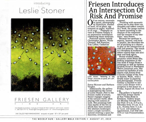 Friesen Gallery Exhibition Announcement